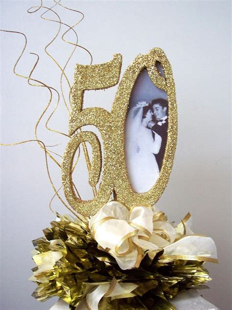 50th Anniversary Table Decor Photograph   50th wedding anniv