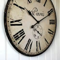 large shabby chic wall clock large 60cm antique vintage style wall clock shabby chic new boxed ebay