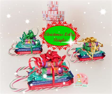 How To Decorate Christmas Tree At Home christmas lolly sleighs stay at home mum
