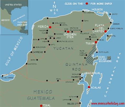 Vacation Homes For Rent In Mexico - map of riviera maya mexico map of hotels in playa del carmen