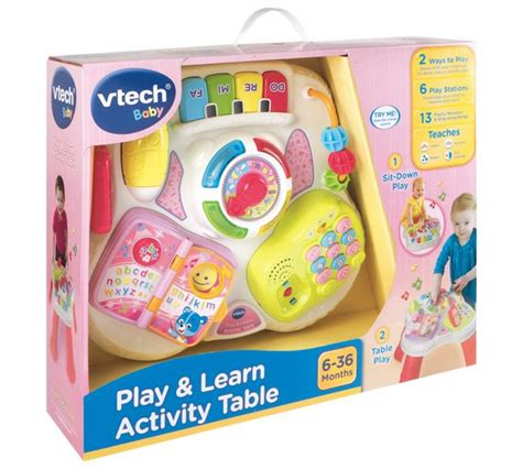 v tech activity table buy vtech activity table pink at argos co uk your