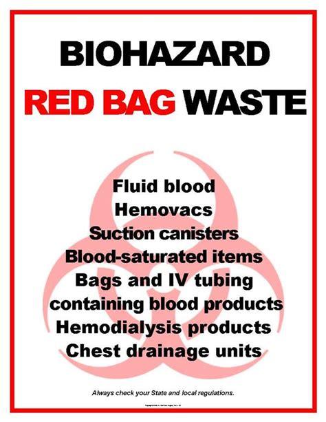 Handbag Health Warning by Biohazard Bag Waste Poster 146