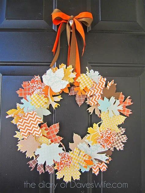 Fall Paper Craft Ideas - diy projects pretty diy fall wreaths landeelu