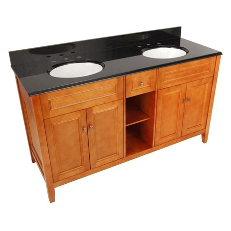 61 In Vanity Top by Foremost Exhibit 61 In W X 22 In D Vanity In Rich
