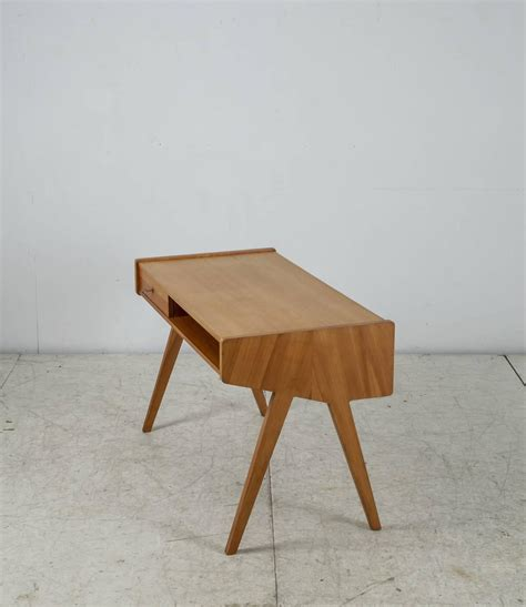Small Wood Writing Desk Helmut Magg Small Wooden Writing Desk Germany 1950s For Sale At 1stdibs