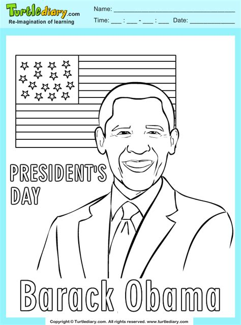 Free Barack Obama Coloring Pages
