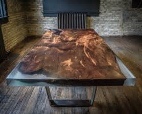 Clear Epoxy Resin For Bar Tops This Dining Table Is Carved From 4000 Year Old Redwood Burl