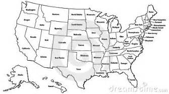 united states map outline stock photography image 4467332