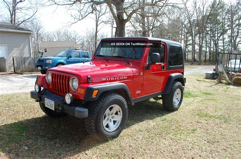 jeep red two door 2006 jeep wrangler rubicon hardtop red 2 door suv 4wd 6 sp