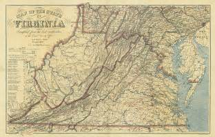 map of virginia civil war era 1863 by historic maps