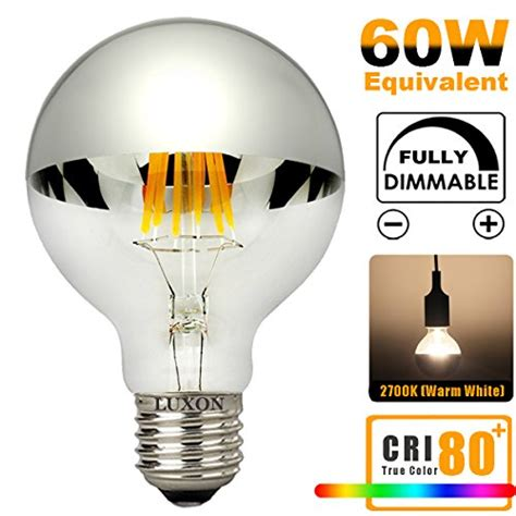 chrome tipped light bulbs half chrome light bulb dimmable led edison bulb silver