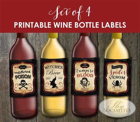 printable labels wine bottles halloween labels for wine bottles