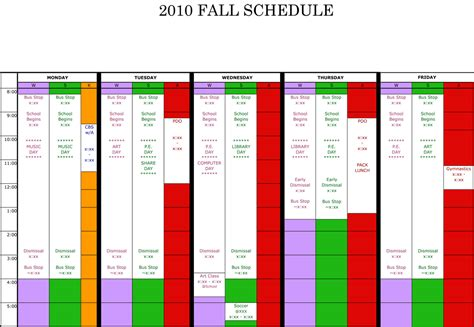 colors schedule wfmw a color coded weekly schedule the meanest momma
