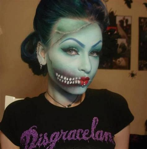 zombie girl makeup tutorial zombie girl fantasy make up pinterest