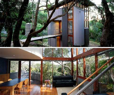 Eco Homes Plans Paul Richard House A Small Hillside Tower Small Houses
