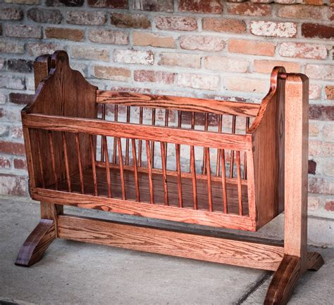 Handmade Crib - swinging wooden baby cradle handmade from by