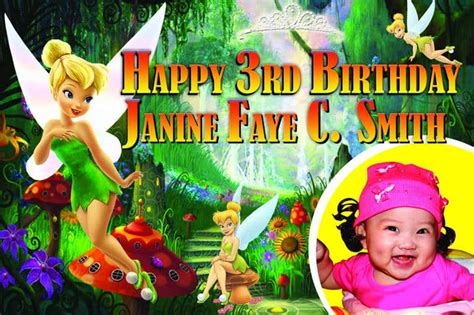 Tinkerbell Photo Booth Layout   banner printing for tinkerbell birthday banner 4 x 2ft