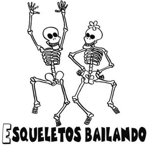 imagenes de calaveras y calabazas esqueletos bailando dibujo infantil de halloween