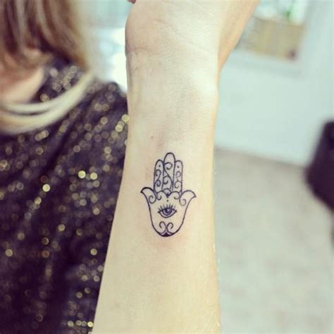 63 dainty hamsa hand tattoo to protect yourself from the