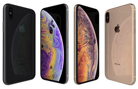 3d apple iphone xs colors model turbosquid 1332048