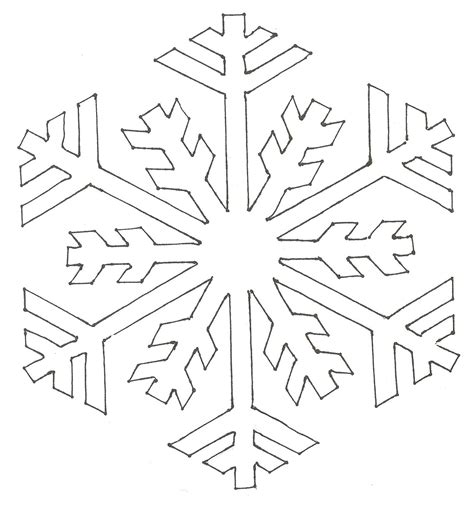 printable snowflakes template snowflake pattern coloring pages