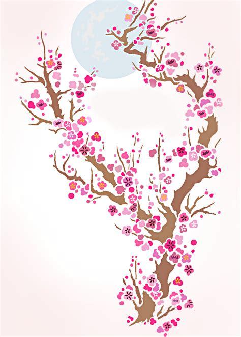 blossom template plum blossom moon stencil henny donovan motif