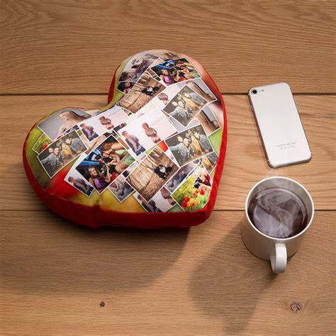 cuscino con la foto cuscino cuore personalizzato con foto nome dedica in 48 ore