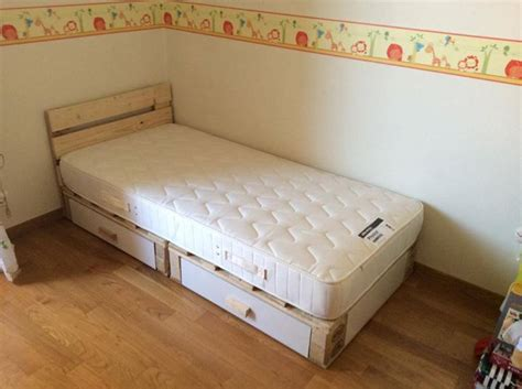 pallet toddler bed pallets kids bed with storage pallet ideas recycled