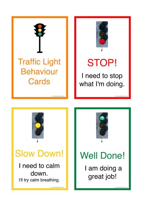 Traffic Light Cards Template by 74 Best Images About Visuals And Behaviour Management And