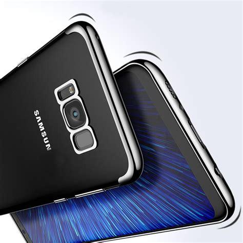 Samsung S8 S8 Plus Tpu Shining Chrome Softcase Shining Bumper Casing samsung galaxy s8 plus ultra thin clear gel chrome effect trim network unlocking