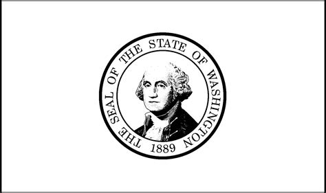 Washington State Flag Coloring Page washington state flag