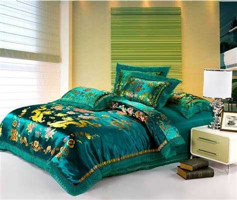 dragon bed set embroidered chinese dragon duvet cover set luxury king queen size wedding bedding set