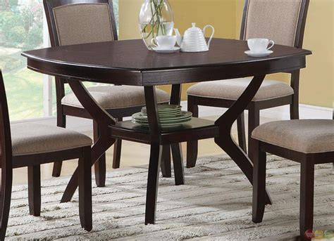 casual dining room set memphis cappuccino 5 piece casual dining room set