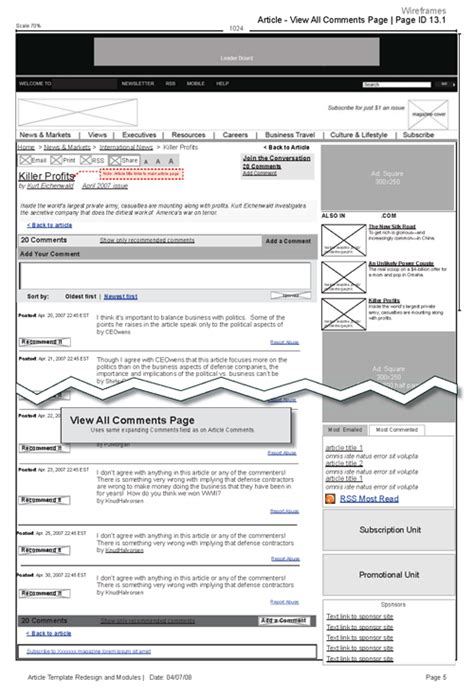 Sle Commenting Template Wireframes Indesign At Chris Boese Portfolio Indesign Wireframe Template