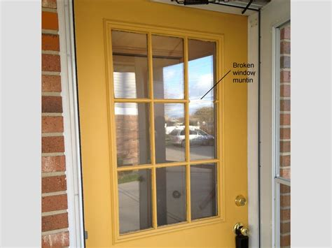 Replacement Window For Exterior Door How To Replace A Glass Frame In An Exterior Door