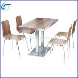Modern restaurant furniture wooden dining table and chairs