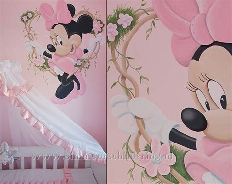 Commode Minnie by Minnie Mouse Meisjeskamer Muurschildering