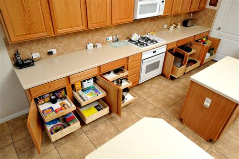 convert kitchen cabinets to pull out drawers pull out shelves kitchen pantry cabinets bravo resurfacing