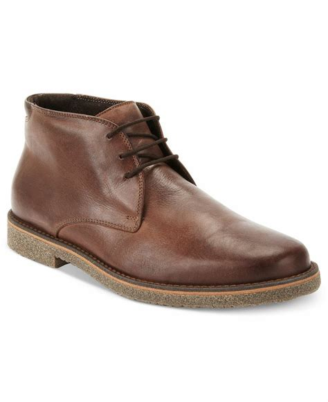 alfani boots lancer leather chukka boots shoes