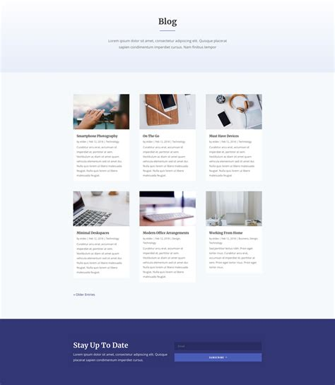 blog page layout design get an engaging design conference divi layout pack for