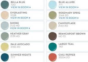 pb benjamin paint color picks