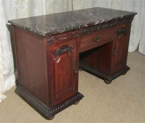 Desk With Marble Top by Mahogany Marble Top Desk By T Wallace
