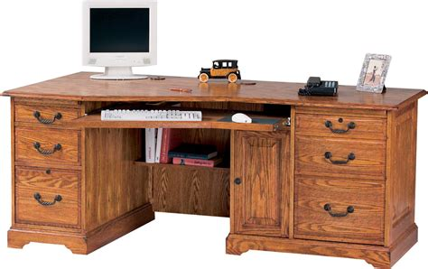 home office furniture oak winners only home office furniture h174lw wedge shaped oak