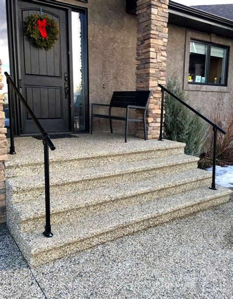outdoor stair railing ideas  pinterest deck