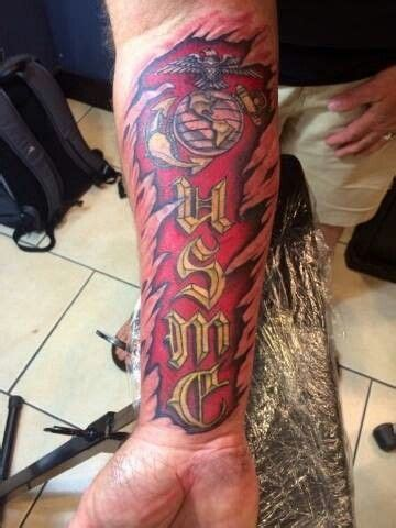 quarter sleeve tattoo marine corps 17 best images about u s m c body art on pinterest