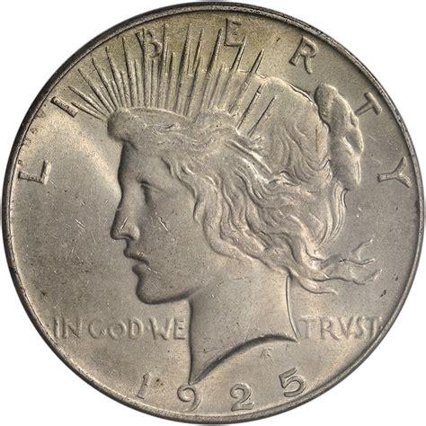 1925 silver dollar value 1925 us peace silver dollar 1 pcgs ms63 ebay