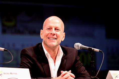 Bruce Willis Irritated By Outspoken Actors by Bruce Willis Actor Bruce Willis On The Panel At The