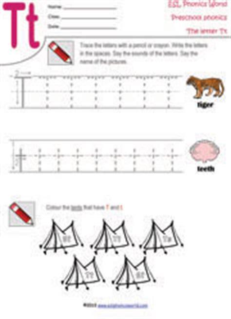 Letter T Worksheets For Pre K by Preschool Worksheets Letters A Z Tracing Kindergarten