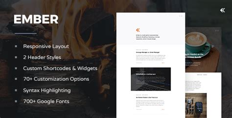 bootstrap themes ember ember responsive wordpress blog theme free download