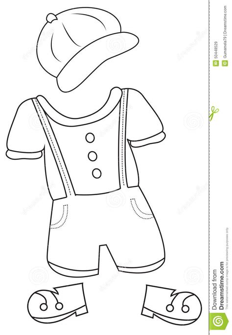 clothes coloring page stock illustration illustration